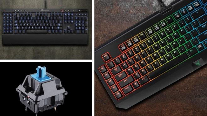 Bilderserie von mechanischen Tastaturen - technische Ansicht einer Taste