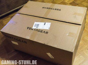 Der Karton des Vertagear Chairs.