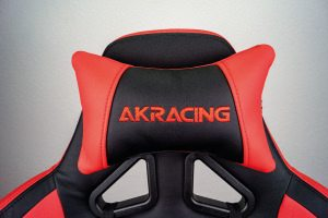 AKRacing Logo auf dem getesteten Chair.