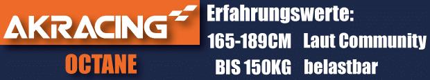 Die AKRacing Octane Series eignet sich für Gamer von 165-189cm.