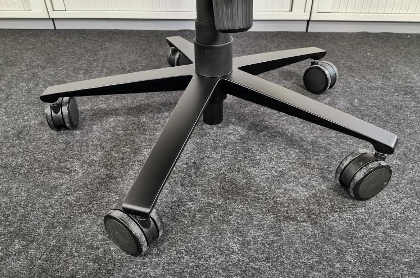 Aluminium Fußkreuz schwarz matt