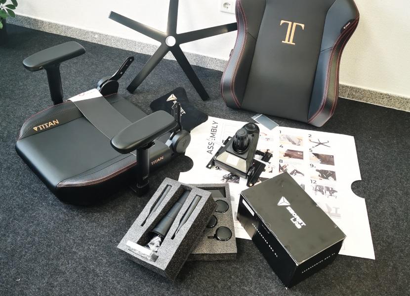 Aufbau eines Gaming Stuhls