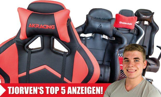 Tjorven's Top 5: Die Sieger im Vergleich von allen Racing-Bürostühlen für den PC.