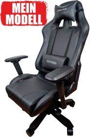 Sieger im Vergleich von allen Racing-Bürostühlen für den PC mit Stoffbezug in schwarz.