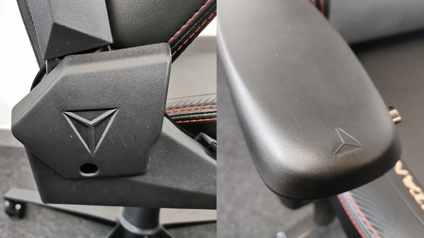 Details des Secretlab Stuhls mit Logos