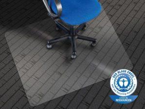 Die beste Bürostuhlunterlage für Teppichböden ist wohl dieses zertifizierte Modell.