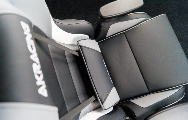 Draufsicht auf den AKRacing-Stuhl.