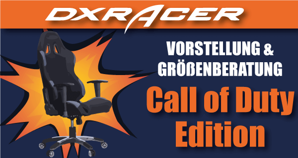 Dxracer call of duty edition taug er f r cod fans for Stuhl quietscht