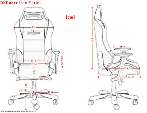 Die genauen Produkt-Maße der Iron Serie.