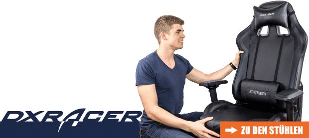 DXRacer, eine der besten Marken in Bezug auf getestete Gaming Stühle.