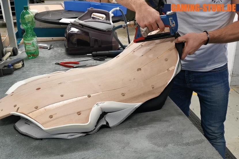 Herstellung der Rückenlehne