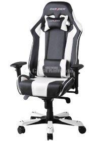 Zockerstuhl von DXRacer in schwarz weißem Design.