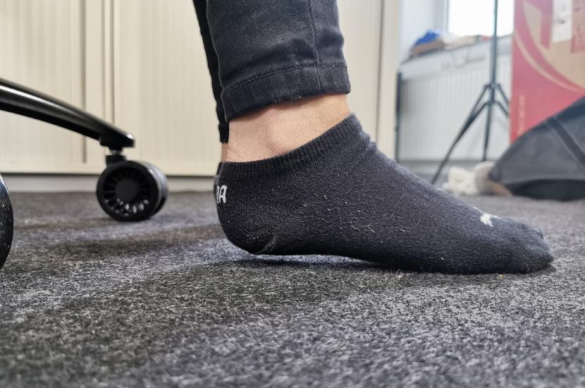 Mit 167cm etwas zu klein, Füße nicht am Boden