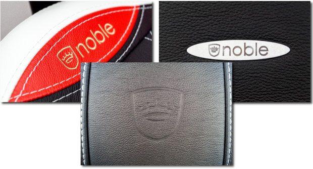 Drei Varianten des Noble-Logos.