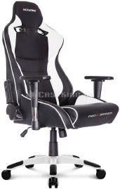 ProX-Stuhl in weiss und schwarz.