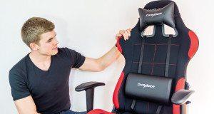 Racer 1 Test Beitragsbild mit dem Stuhl und Tjorven.