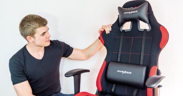 dxracer1 im test video bericht zum g nstigen gaming stuhl. Black Bedroom Furniture Sets. Home Design Ideas