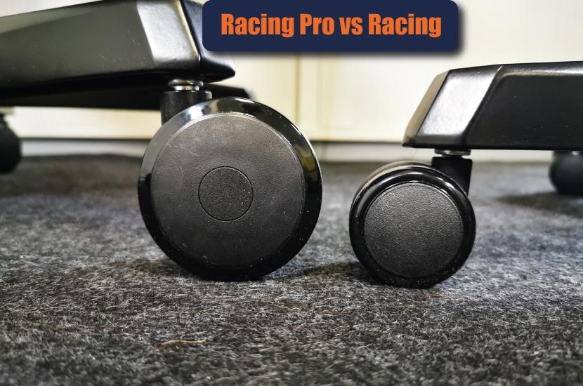 Racing Pro Rollen verglichen mit Racing