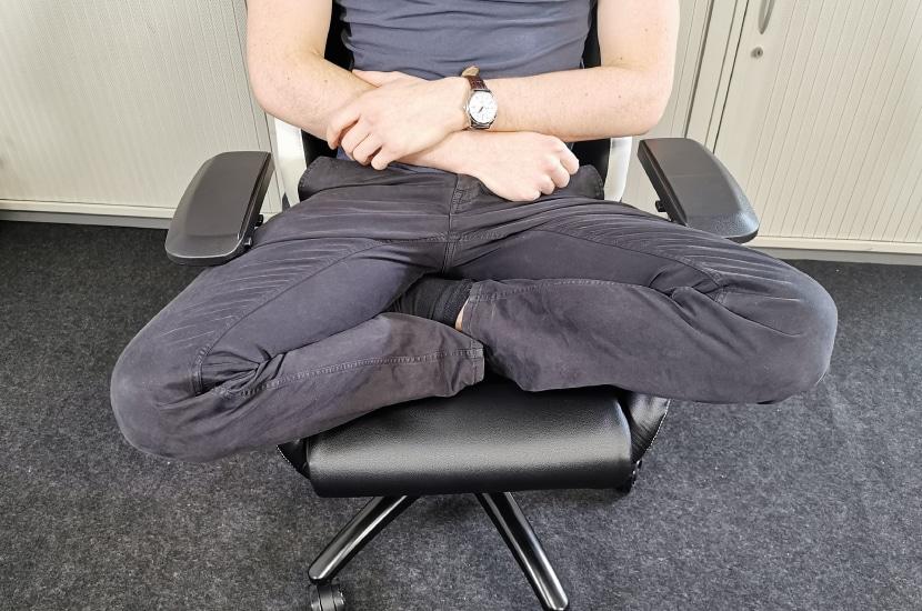 Schneidersitz Test von Tjorven