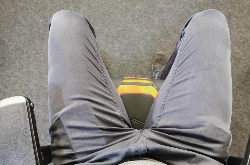 Seitenwangen der Sitzfläche von oben