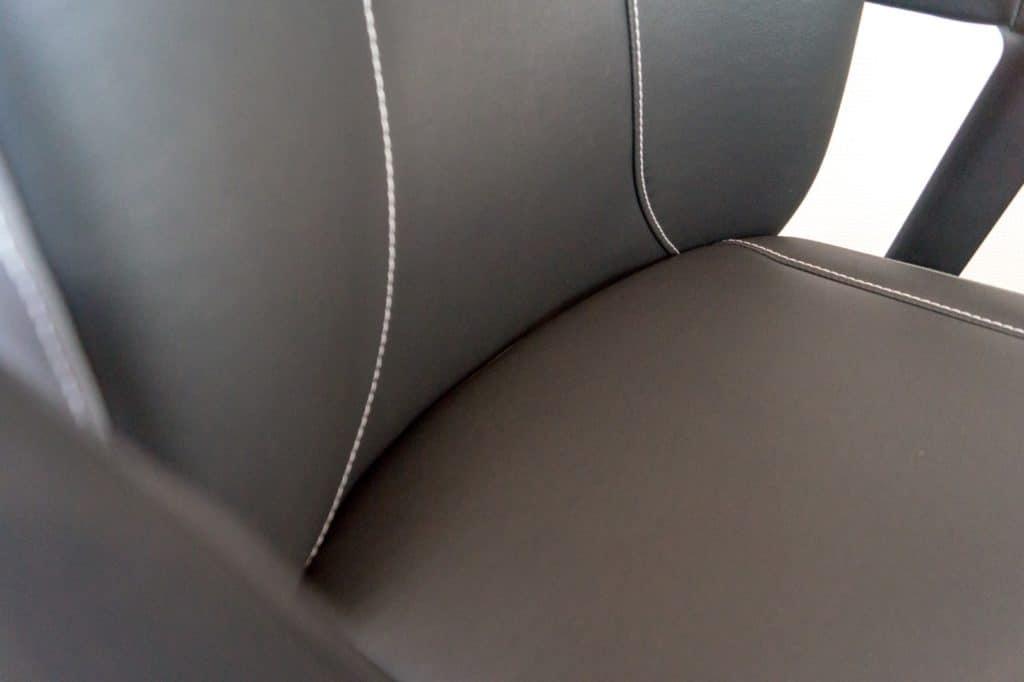 Sitzfläche reingeschoben