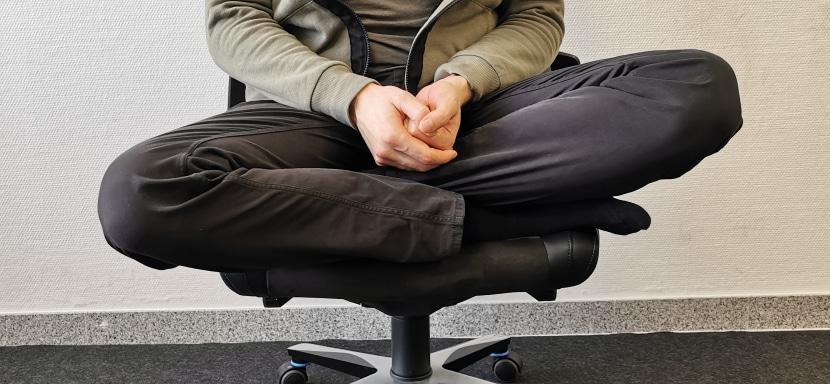 Der Schneidersitz-Test beim Backforce one