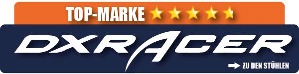 Eine der getesteten Marken für beste Gaming Stühle ist DXRacer.