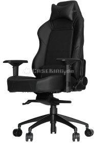 Ein Gamerstuhl in schwarz aus der Plus Line von Vertagear.
