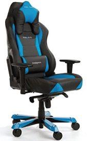 Ein schwarz blauer Wide-Stuhl.
