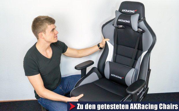 Hier geht es zu den getesteten AKRacing Stühlen.